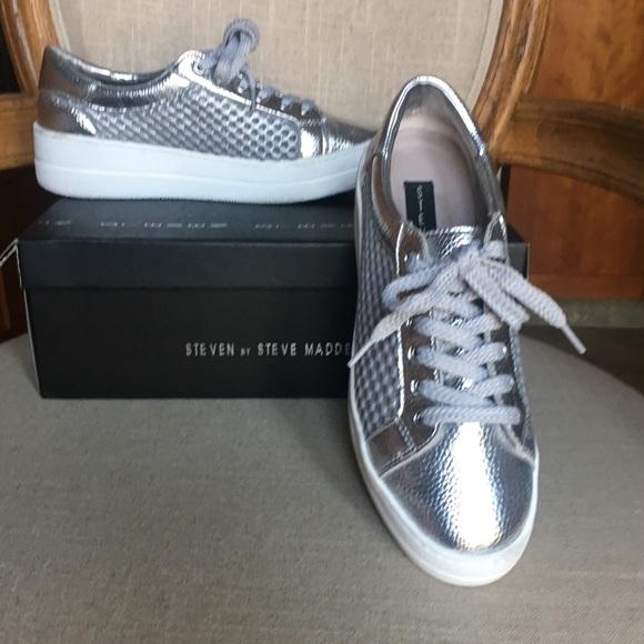 ea970397464 Steven Napper Silver Sneakers 7